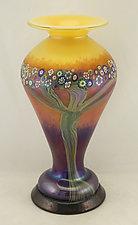 Mango Lady Vase by Ken Hanson and Ingrid Hanson (Art Glass Vase)