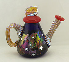 Cosmic Teapot by Ken Hanson and Ingrid Hanson (Art Glass Teapot)