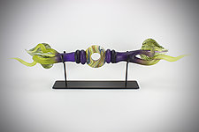 Amethyst and Lime Austral Sculpture by Danielle Blade and Stephen Gartner (Art Glass Sculpture)