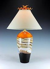 Strata Table Lamp by Danielle Blade and Stephen Gartner (Art Glass Table Lamp)