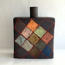 Argyle Bottle II by Catherine Satterlee (Ceramic Vase)