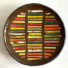 Close Shave Platter II by Catherine Satterlee (Ceramic Wall Platter)