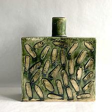 Jungle Bottle I by Catherine Satterlee (Ceramic Vase)
