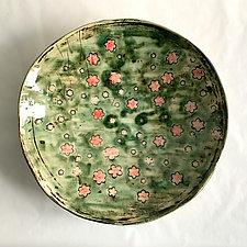 Sakura Plate VIII by Catherine Satterlee (Ceramic Wall Platter)