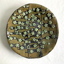 Sakura Plate VI by Catherine Satterlee (Ceramic Wall Platter)