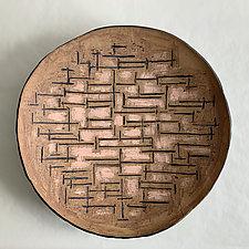 Mondrian III by Catherine Satterlee (Ceramic Wall Platter)