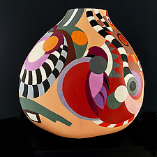 South West Remembered by Nadine Saitlin (Painted Gourd Vessel)