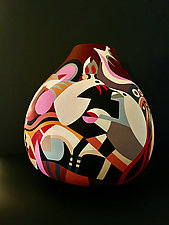 Pixies and Gremlins by Nadine Saitlin (Painted Gourd Vessel)