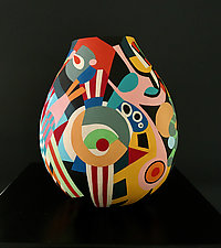 Big Top by Nadine Saitlin (Painted Gourd Vessel)