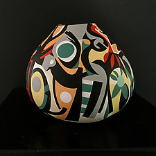Inside the Forest by Nadine Saitlin (Painted Gourd Vessel)