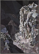 Cliffs of the Comet by Ann Harwell (Fiber Wall Hanging)