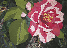 Peppermint Camelia by Ann Harwell (Fiber Wall Hanging)