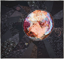 Pluto by Ann Harwell (Fiber Wall Hanging)