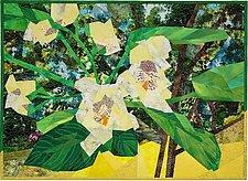 Catalpa Tree Flower by Ann Harwell (Fiber Wall Hanging)