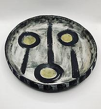 Green Dots by Meg Dickerson (Ceramic Bowl)
