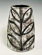 Large Vase with Leaf Pattern by Meg Dickerson (Ceramic Vase)