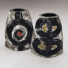 Flower Hut by Meg Dickerson (Ceramic Vase)