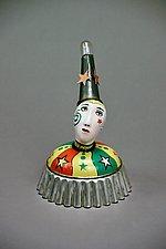 Star Clown by Valerie Bunnell (Mixed-Media Sculpture)