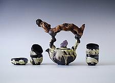 Six Piece Handmade Ceramic Tea Ceremony Set by Natalya Sevastyanova (Ceramic Teapot)