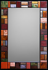 Geometric Metallic Mirror by Kim Eubank (Metal Mirror)