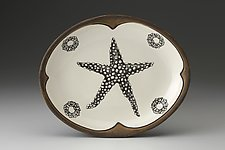 Small Serving Dish: Starfish by Laura Zindel (Ceramic Platter)