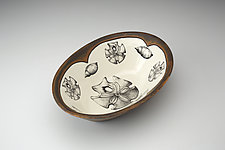 Large Serving Dish: Sand Dollar by Laura Zindel (Ceramic Platter)