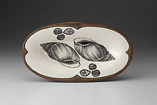 Oblong Serving Dish: Snail Shell by Laura Zindel (Ceramic Platter)