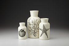 Jar Set: Sealife #1 by Laura Zindel (Ceramic Bottles)