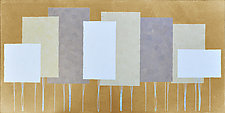 Gold Forest No.230 by Chris Wheeler (Mixed-Media Collage)