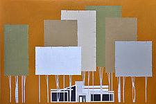 Ranch Tree and House No.162 by Chris Wheeler (Mixed-Media Collage)