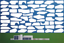 Cloud House No.4 by Chris Wheeler (Mixed-Media Collage)