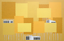 Landscape in Yellow No.75 by Chris Wheeler (Mixed-Media Collage)