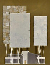 Ranch House and Tree No.260 by Chris Wheeler (Mixed-Media Collage)