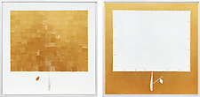 Gold Box Tree Set No.323 by Chris Wheeler (Mixed-Media Painting)