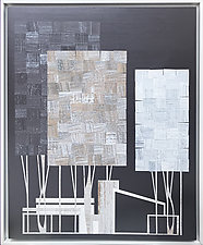 Ranch House and Tree No.287 by Chris Wheeler (Mixed-Media Collage)