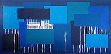 Blue Forest No.111 by Chris Wheeler (Mixed-Media Collage)