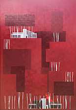 Red Forest No.279 by Chris Wheeler (Mixed-Media Collage)