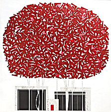 Red Maple No.320 by Chris Wheeler (Mixed-Media Collage)