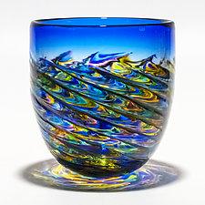 Optic Rib Pail by Michael Trimpol and Monique LaJeunesse (Art Glass Vase)
