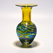 Optic Rib Whopper Vase by Michael Trimpol and Monique LaJeunesse (Art Glass Vase)