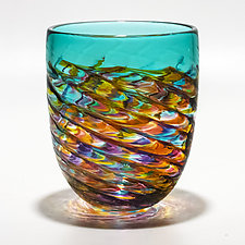 Optic Rib Pail by Michael Trimpol and Monique LaJeunesse (Art Glass Vase)