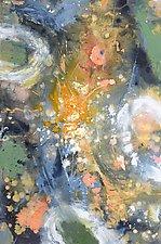 Golden Astrodrift by Stephen Yates (Acrylic Painting)