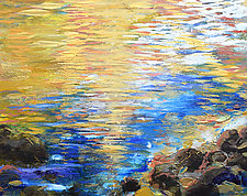 Shimmer from Edge by Stephen Yates (Acrylic Painting)