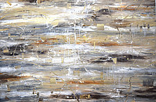 Strata in Brown and Tan by Stephen Yates (Acrylic Painting)