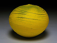 Yellow Wave III by Nicholas Bernard (Ceramic Vessel)