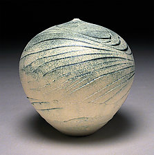 White Wave II by Nicholas Bernard (Ceramic Vessel)