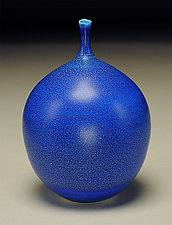 Blue Bottle by Nicholas Bernard (Ceramic Vases & Vessels)