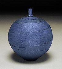Indigo Spiral by Nicholas Bernard (Ceramic Vase)