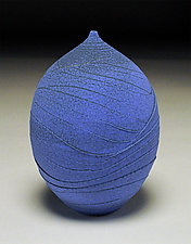 Vivid Blue Teardrop II by Nicholas Bernard (Ceramic Vase)