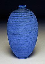 Vivid Blue Jug by Nicholas Bernard (Ceramic Vessel)